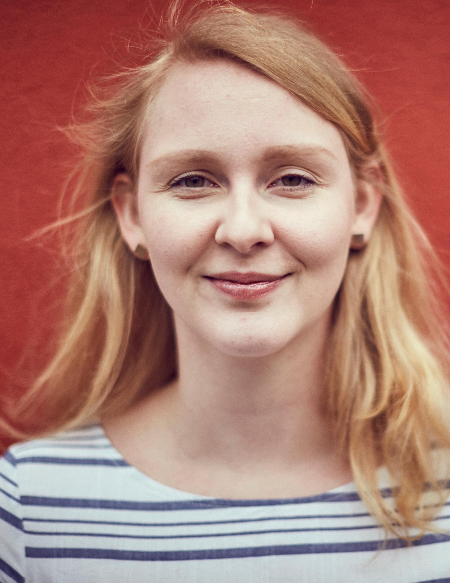 Praktikantin Fabienne Polster